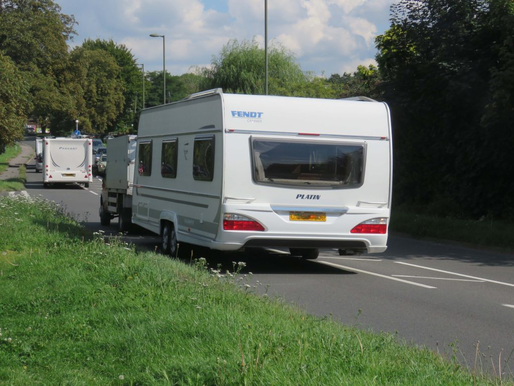 Travellers departing KGV Playing Fields