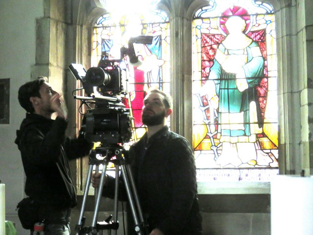 Channel 4 filming in St Lawrence Church