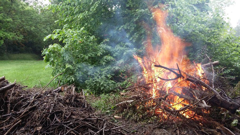 KGV bonfire of travellers wood dumped