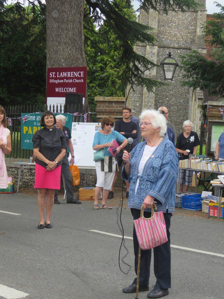 Elisabeth Gaunt speaks and opens Fete