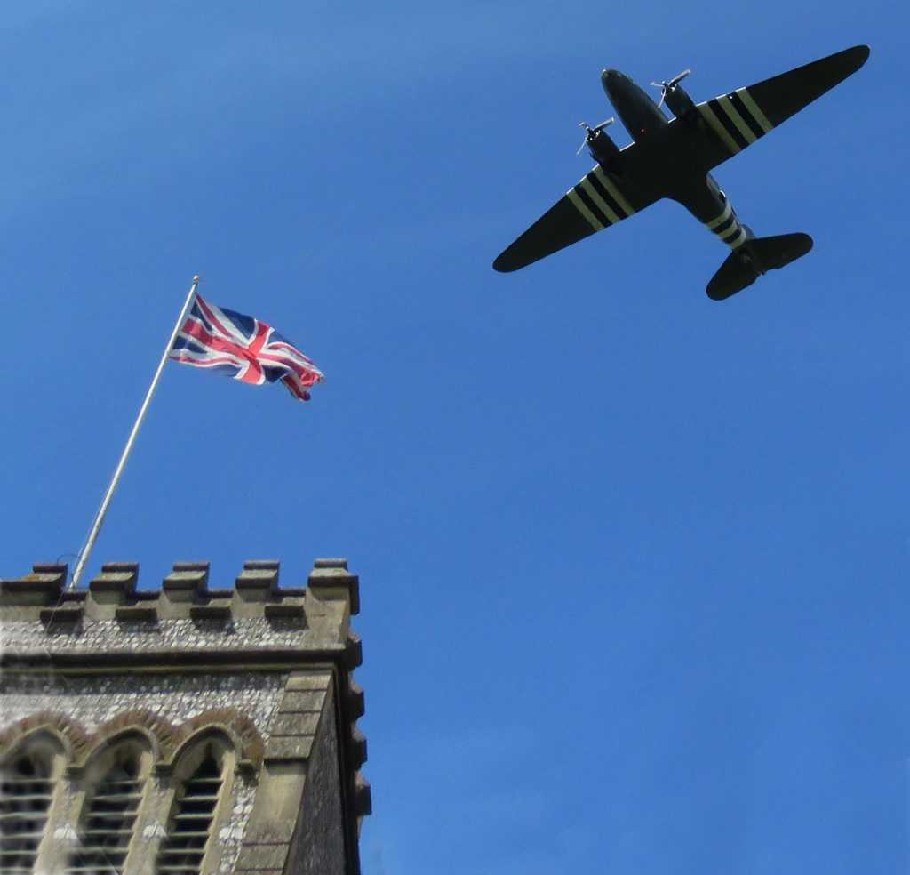 The Dakota Flyover and St Lawrence Church Tower