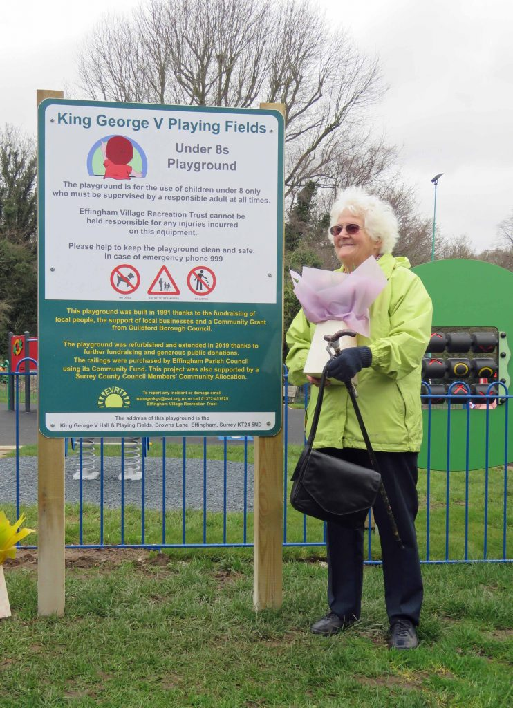 Elisabeth Gaunt at opening of Toddlers Playground