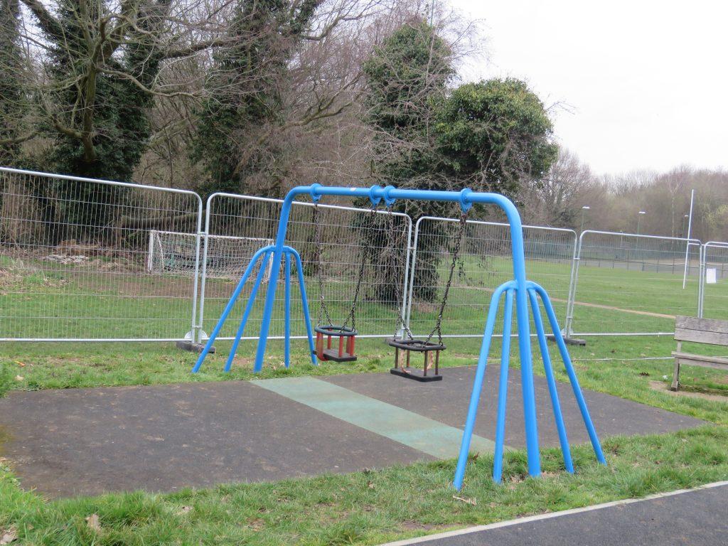 Swing repainted