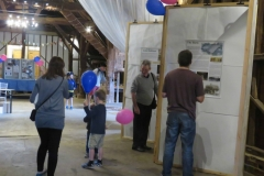 Little Bookham Tithe Barn - BalloonsViewing the History Panels