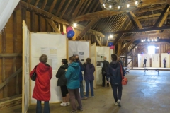 Little Bookham Tithe Barn - Viewing the History Panels