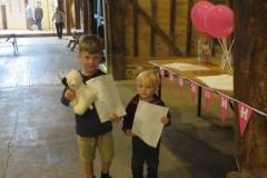 Little Bookham Tithe Barn - Young Visitors with their Quiz Answers