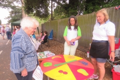 Barnes Wallis' daughter Elisabeth enjoys a stall
