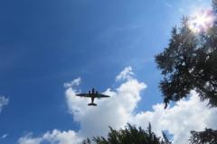 The Dakota Flypast in the sun