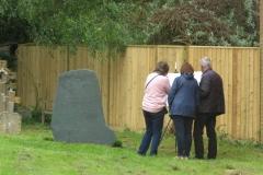 Visitors at Barnes Wallis' Grave